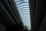 изграждане на стъклена покривна конструкция
